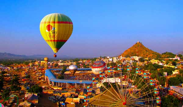 Image result for Hot Air Balloon in Pushkar